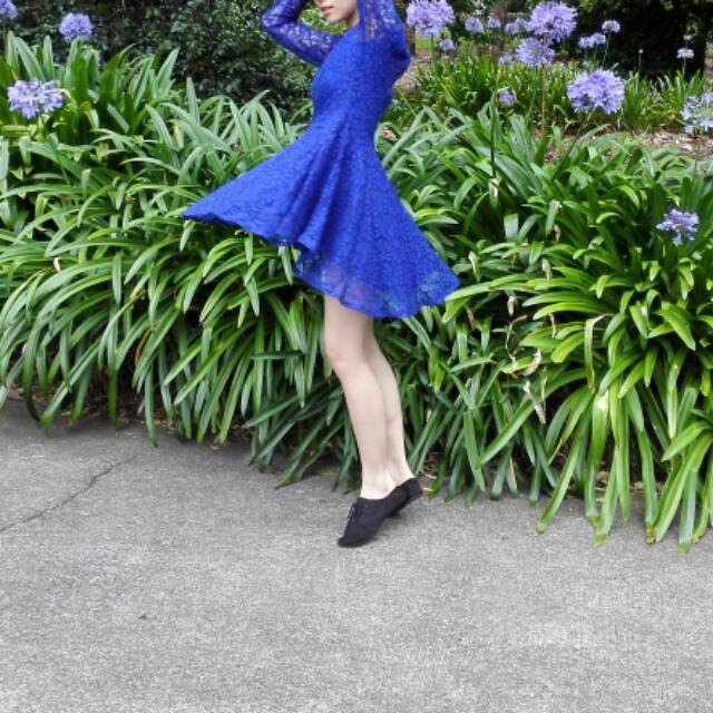 H&M Lace Blue Dress