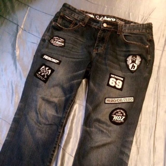 HOZ貼布牛仔褲