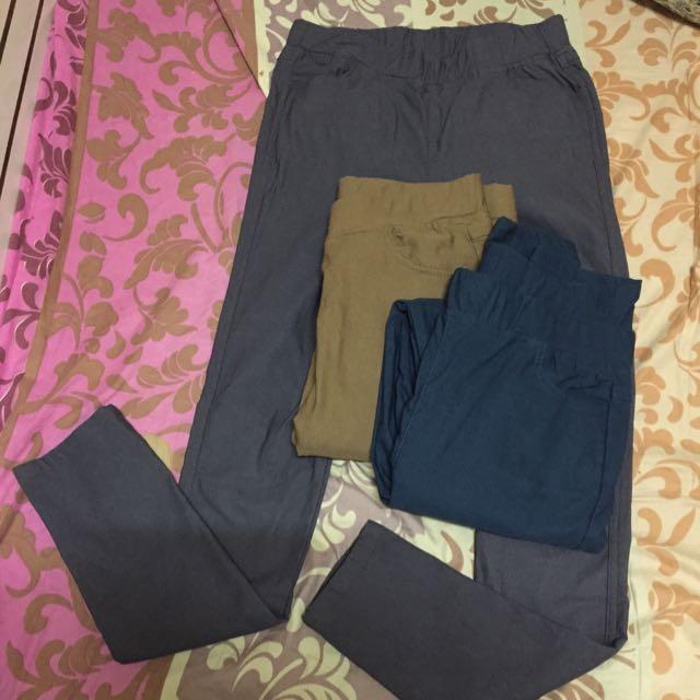 M 鬆緊彈性長褲*3