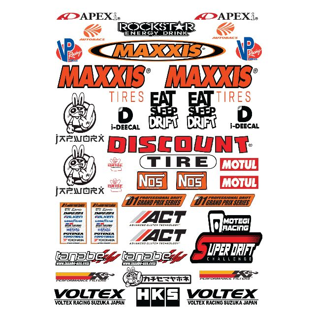 Maxxis Tires 1 10 Rc Drift Car Decal Sticker Decal Toys Games