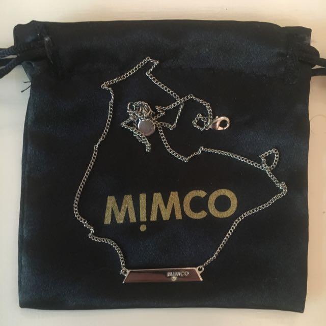 MIMCO ORIGAMI NECKLACE SILVER