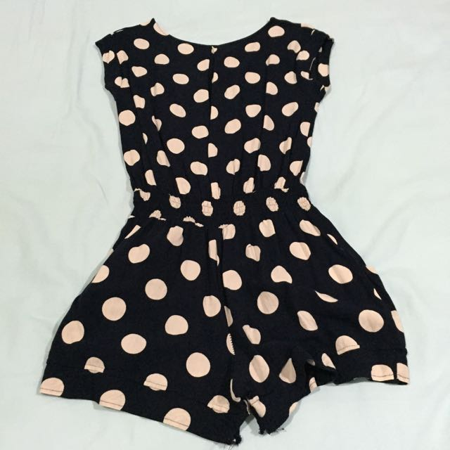 Polka Dotted Playsuit