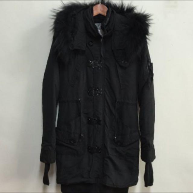 保留中)極新轉賣 SLY N3B 露趾套 原單毛毛連帽外套長版大衣 N-3b