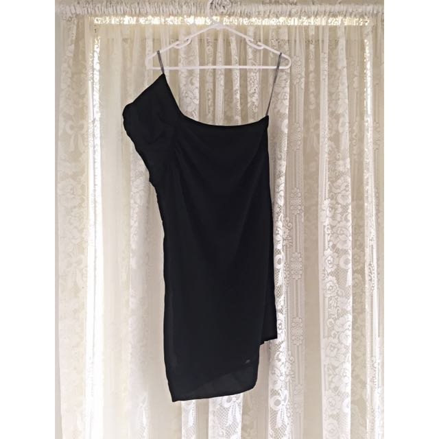 Very Very Black Off The Shoulder Dress