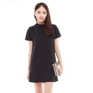 ACW High Neck Flowy Shift Dress