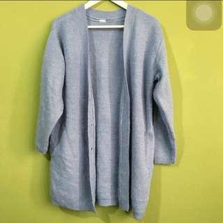 含運✨GU粉藍長版針織上衣