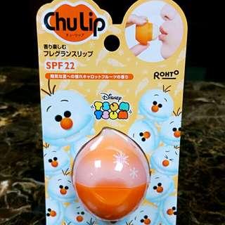 免運💝日本限定ROHTO ChuLip迪士尼聯名款Tsum系列雪寶Olaf甜吻護唇球護脣膏