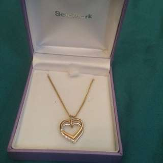 Gold Heart Pendant + Gold Chain