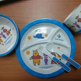 迪士尼小熊維尼嬰兒幼兒餐具組