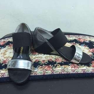 Shoran Handmade 正韓內增高金屬系涼鞋