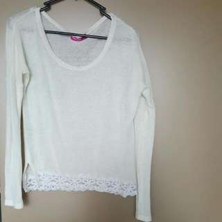 Valleygirl Top With Lace Details