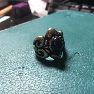 純銀寶石戒指