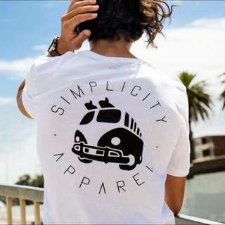 Simplicity Apparel's Tall Tees; Black Or White 2 designs; Combi Van or Simple SIZES: M, L, XL