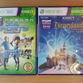 Kinect Sports Season Two - $15 Kinect Disneyland Adventures - $15 Get both For $25