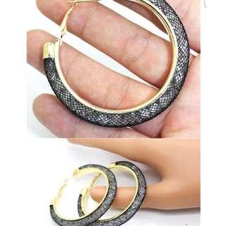 Gold circle hoop Earrings