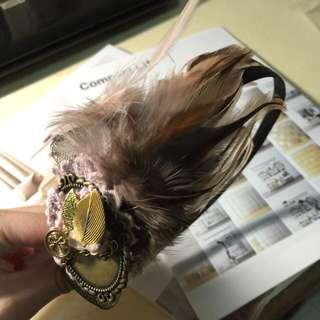 夢幻羽毛髮箍