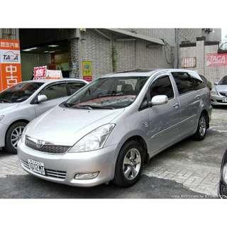 2005年 Toyota豐田【Wish威曲】E版 2.0L 售價29萬8 中和小洪
