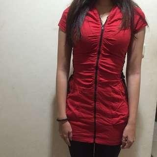 Dress merah preloved