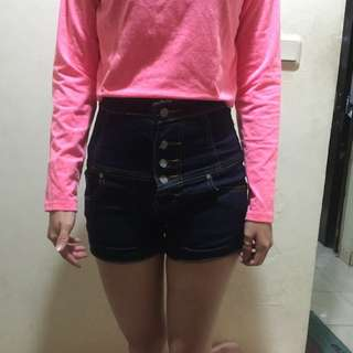 Celana hotpants high waist baru