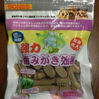 潔牙骨-日本FRESH BONES潔牙一番 (海藻)雙效機能牙刷骨S-35入(300g)