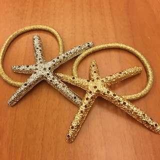 海星造型髮束(金、銀)