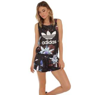 Adidas Originals Lotus Print Women's All In One Black Multicolour