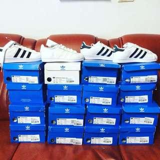 adidas Originals Superstar White & Black Trainers 金標 熱門款 文樂 現貨