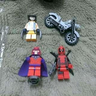 Lego 6866 死侍 deadpool 已拆組裝 純擺設 無把玩 無缺件 外包裝 說明書 漫畫 塑膠套 一樣不少