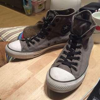 降價↘️Converse All Star 高筒灰黑色帆布鞋
