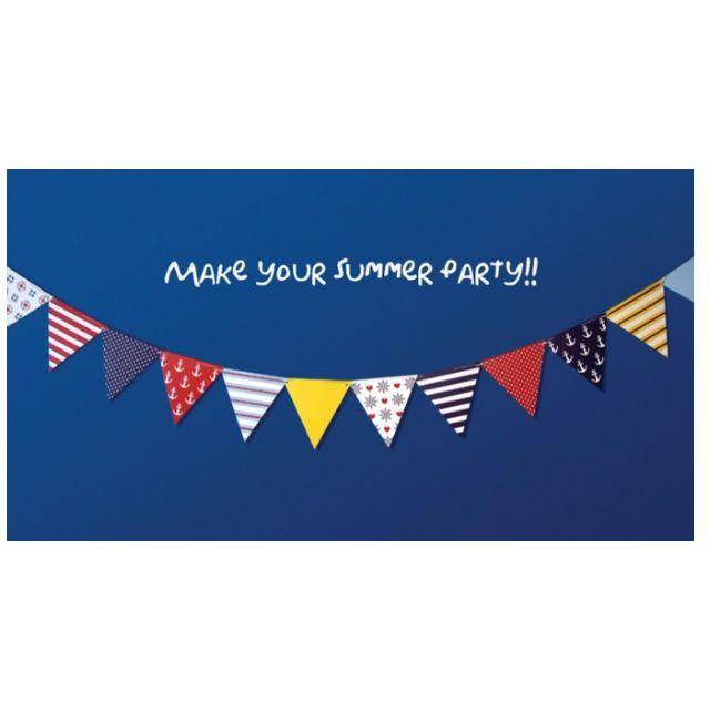 韓版海軍風格紙質三角旗/野餐/派對/露營/聚會/掛飾/吊飾/佈置
