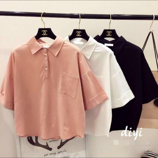 早春新款❤️五分袖短版衫