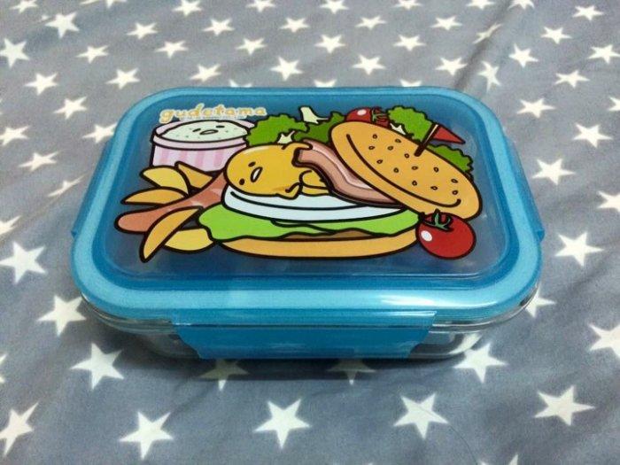 蛋黃哥玻璃便當盒【美式漢堡款】