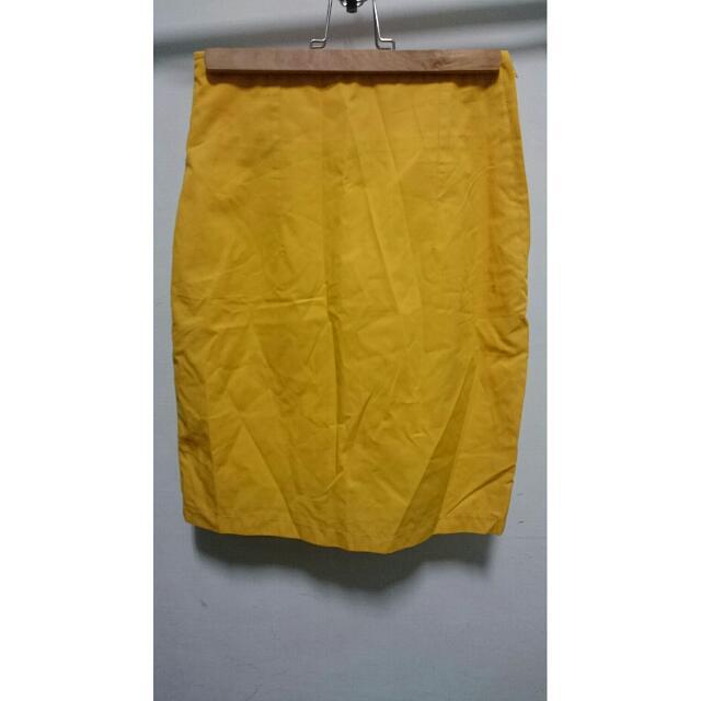 彩色裙-黃