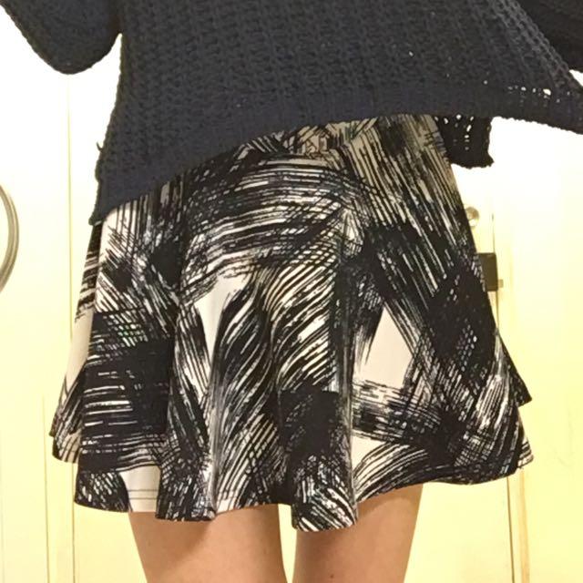 降價!韓國製潑墨鬆緊帶短裙