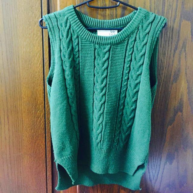 綠色 針織背心