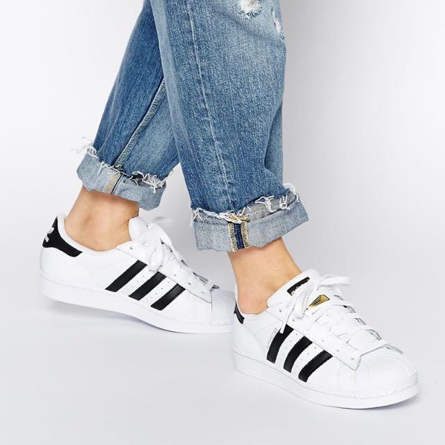 全新正品Adidas Originals 金標 superstar