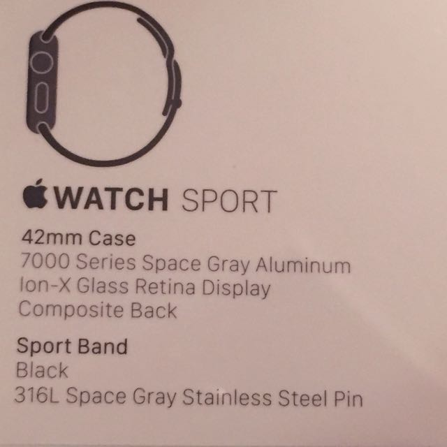 (保留)Apple Watch Sport42mm(黑)