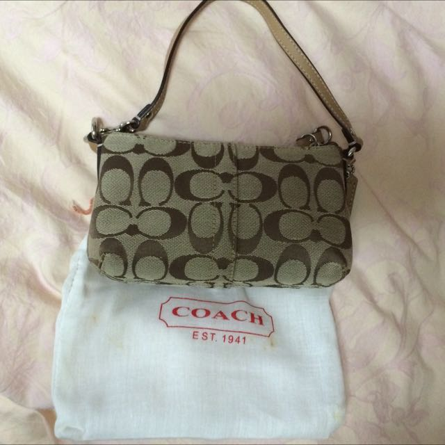 Coach Logo 淺咖啡包