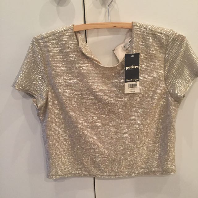 Gold Crop Top Fit Au 8