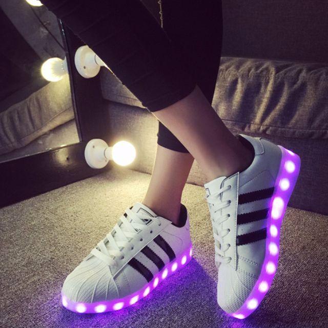 adidas superstar led light up shoes