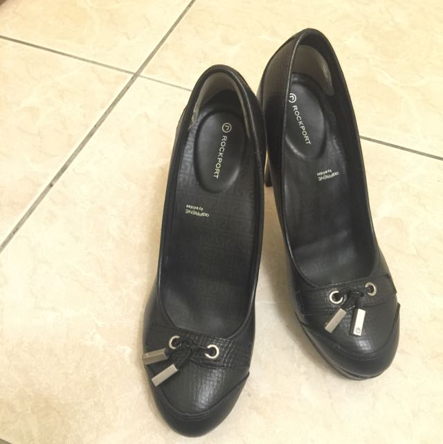 ROCKPORT黑色高根鞋