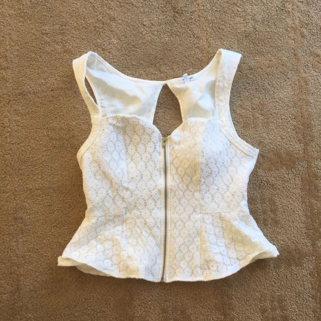 Valley Girl Lace Bustier Top