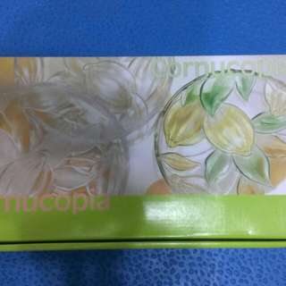 日本SOGA玻璃彩色檸檬花小盤(5入)(B2258Z)16.5cm
