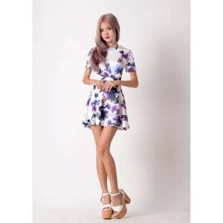 Twoxies Purple Garden Dress