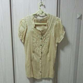 Golden Color Soft Linen top - price reduce$3 incl mailing