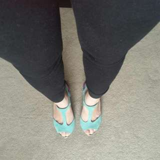 Light Blue/ Purple Heels