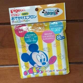 全新貝親日本製米奇寶寶圍兜