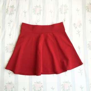 Basic Red Skirt