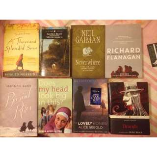 BOOKS: Khaled Hosseini, Bram Stoker, Neil Gaiman etc.