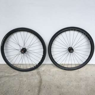 Hplusson Laced To Blb Track Hubs